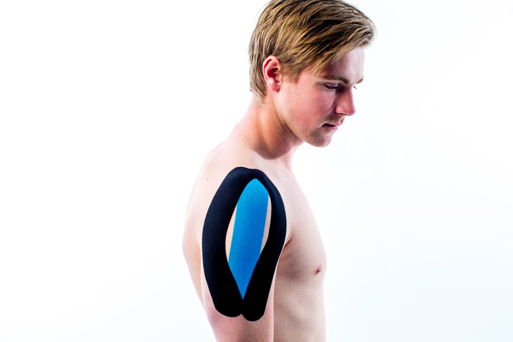 medical taping schouder